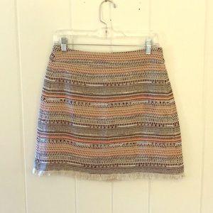 LOFT Multicolor Tweed Skirt